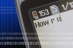 Text Message Phone Stock Photo