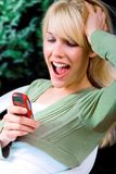 Text message surprise royalty free stock image