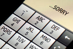 Text message on your mobile phone. Stock Image