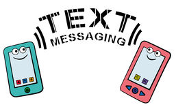 Text messaging Stock Image