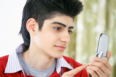 Text messaging boy Royalty Free Stock Photo