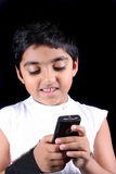 Text Messaging Boy Stock Image