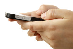 Text messaging Stock Photo