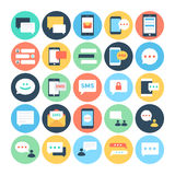 Text Messaging Flat Vector Icons 1 Royalty Free Stock Photo