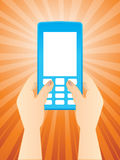 Text Messaging - Mobile phone Stock Photography