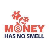 Text money does not smell Stock Images