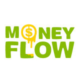 Text  money flow Royalty Free Stock Photo