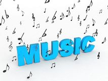 Text of music Royalty Free Stock Image