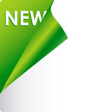 Text new on green background Stock Photography