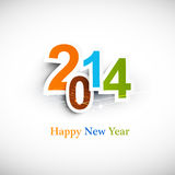 Text for new year 2014. Colorful design Royalty Free Illustration