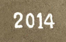 Text 2014 Stock Photography