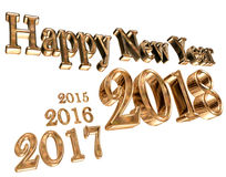 Text with a new year 2018 and leaving early years on a white background Stock Image
