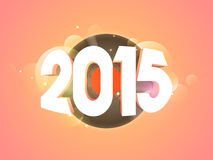 2015 text for New Year and Merry Christmas celebration. Stock Images