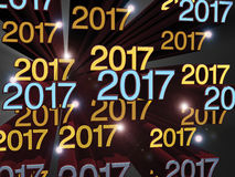 Text 2017 New Year`s Royalty Free Stock Images