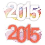 2015 text for the New Year. 2015 vector text for the New Year Royalty Free Stock Photography