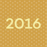 2016 Text on New Years background, font contemporary illustration.  Stock Photography