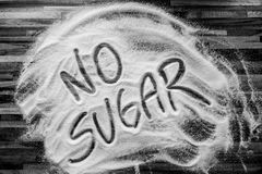 Text with no sugar. Black and white Royalty Free Stock Photos