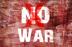 Text for No War on grunge background Royalty Free Stock Images