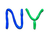 Text NY Stock Photography