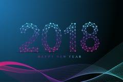 Text o Natal do projeto e o ano novo feliz 2018 Projete o elemento para apresentações, cartão, insetos, folhetos e cartazes ilustração stock