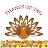Thanksgiving poster Stock Image