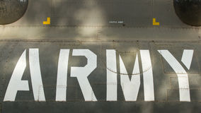 Text on an old Vietnam war Airplane displayed in Saigon Stock Images