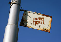 Text One Way Ticket royalty free stock photos