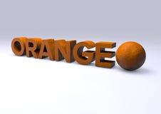 Text orange Royalty Free Stock Photos