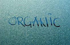 Text organic  on a frost Royalty Free Stock Image