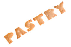 Text PASTRY from cookies Stock Photography