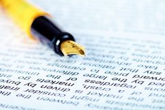 Text and pen Royalty Free Stock Photo