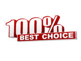 100 percentages best choice red white banner - letters and block Stock Image