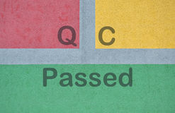 Text QC Passed Stock Photography