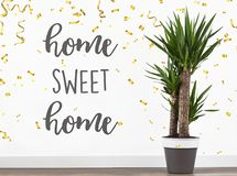 Text quote home sweet home stock image. Image of text ...