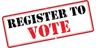 Register to vote  Stock Photography