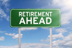 Text of retirement ahead on signboard Royalty Free Stock Photography