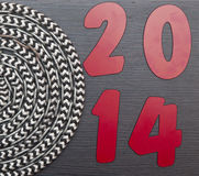 Text 2014 and rope roll Royalty Free Stock Photography