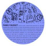 Family budget similar 2 royalty free illustration