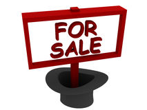 Text for sale in hat Royalty Free Stock Photo