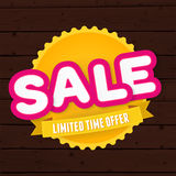 Text sale, limited time only on the big yellow Royalty Free Stock Images