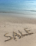 Text on sand - sale Royalty Free Stock Images