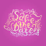 The text Save the date Stock Photos