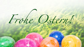 Text saying `frohe Ostern` Royalty Free Stock Images