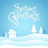 Seasons Greetings Text Royalty Free Stock Photography