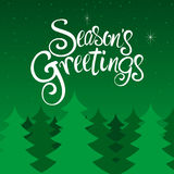 Seasons Greetings Text Royalty Free Stock Photo