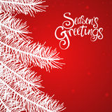 Seasons Greetings Text Stock Photography
