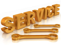 Text SERVICE with three spanners Stock Images