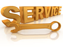 Text SERVICE with three spanners Stock Photography