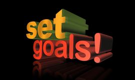 Set goals ! Stock Photo