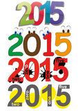 2015 text set. Illustration set of colorful 2015 year text Stock Photos